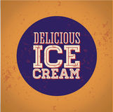 Vintage style ice cream Stock Images
