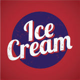 Vintage style ice cream Royalty Free Stock Photography