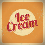 Vintage style ice cream Stock Photography