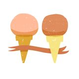 Vintage style ice cream illustration Royalty Free Stock Photo