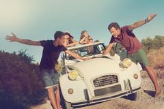 Fighting over directions in vacations Royalty Free Stock Image