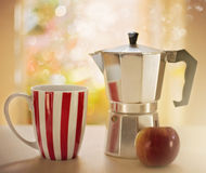 Vintage style image of morning coffee Royalty Free Stock Photos