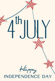 Vintage Style Independence Day poster. With the wording : 4th of July , Happy Independence Day Royalty Free Stock Photos