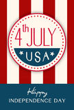 Vintage Style Independence Day poster Royalty Free Stock Photos
