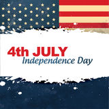 Vintage style independence day Royalty Free Stock Image
