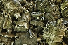 Vintage style industrial background – Lots of car parts stock photos