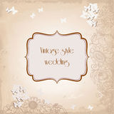 Vintage style invitation Royalty Free Stock Photography