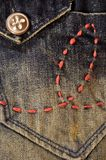 Vintage style Jeans Royalty Free Stock Image