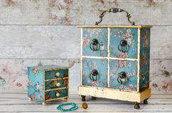 Vintage Style Jewellery Boxes Royalty Free Stock Image