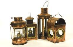 Vintage style kerosene lantern. Lamp Royalty Free Stock Photos