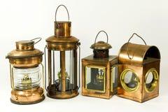 Vintage style kerosene lantern. Lamp Royalty Free Stock Photo