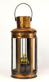 Vintage style kerosene lantern. A Rustic vintage style kerosene lantern Royalty Free Stock Photos