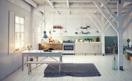 Style kitchen interior. Stock Photo