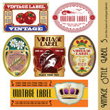 Vintage style label stock illustration