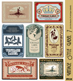 Vintage style label royalty free illustration