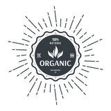 Vintage style label for organic food and drink Stock Photography