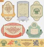 Vintage style labels Royalty Free Stock Photo