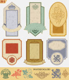 Vintage style labels Royalty Free Stock Photos
