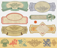Vintage style labels Stock Photo