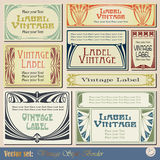 Vintage style labels Stock Image