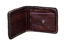 Vintage style of leather wallet Royalty Free Stock Photos