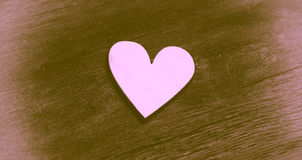 Vintage style. Lonely Heart. Stock Image
