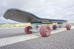 Vintage Style Longboard Black Skateboard Royalty Free Stock Photo
