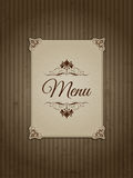 Vintage menu design 1303 Royalty Free Stock Image