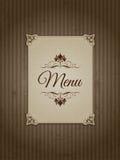 Vintage menu design 1303 Royalty Free Stock Image