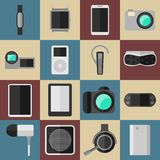 Vintage style modern gadgets  Royalty Free Stock Photography