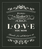 Vintage style Mother's day card vector illustration
