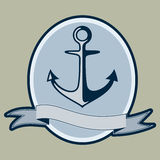 Vintage style nautical anchor and text design. Illustration Royalty Free Stock Photos
