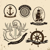 Vintage style nautical theme vector Stock Image