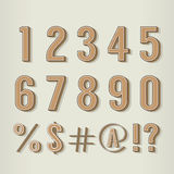 Vintage Style Numbers Set Royalty Free Stock Photos