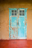 Vintage style old aged house door and window Royalty Free Stock Photography