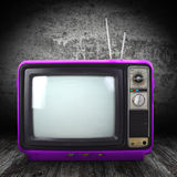 Vintage style old television Royalty Free Stock Images
