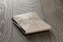 Vintage style parcel wrapped with rope Royalty Free Stock Photos