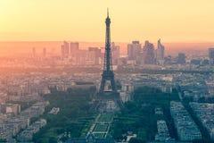 Vintage style of Paris skyline Royalty Free Stock Photos