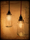Vintage style pendant lights Royalty Free Stock Photography