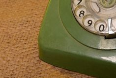 Vintage Style Phone Dial closeup view.  Royalty Free Stock Photos
