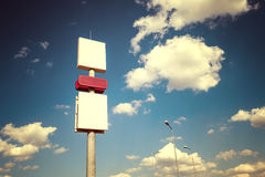 Vintage style photo of blank billboard Stock Images