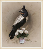 Vintage style photo of the dressed crow Royalty Free Stock Photos