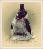 Vintage style photo of the funny crow Stock Images