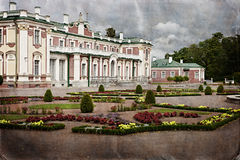 Vintage style photo of palace in Kadriorg garden Royalty Free Stock Photo