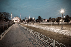 Vintage style photo of Sultanahmet Blue Mosque Royalty Free Stock Photos