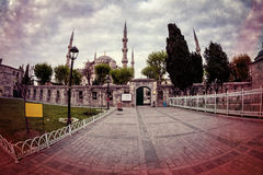 Vintage style photo of Sultanahmet Blue Mosque Stock Image