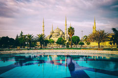 Vintage style photo of Sultanahmet Blue Mosque Royalty Free Stock Images