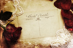 Vintage style picture of an antique postcard Royalty Free Stock Images