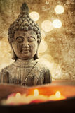 Vintage style picture of a buddha figure Stock Photos