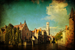 Decorative textured picture of Bruges, Belgium Royalty Free Stock Photos